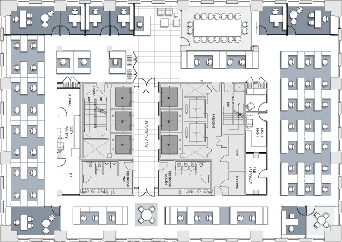 Law Office Floor Plan: Space Planning And Test Fit